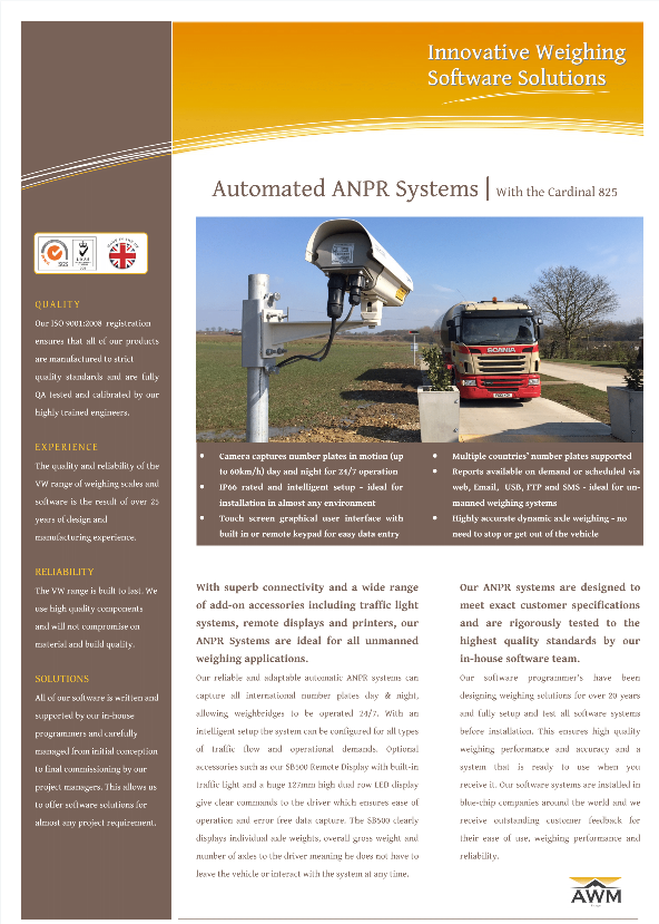 ANPR Software systems Literature