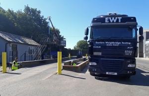 EWT Weighbridge Testing - Calibration Check on a Weighbridge